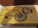 Vintage Mirro Aluminum Heart Cake/Mold Set in Original Box