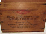 Western Small Arms Ammunition Wood Crate