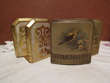 2 Sets Vintage Bookends, Wood and Metal, 1 Made in Italy