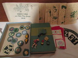1940s Hamburg Girl Scout Collection, Handbook, Badges, Pins, Postcards