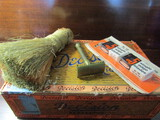 Brass Razor, Blades, Advertising Cigar Box