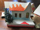 Vintage Christmas Paper Houses, Japan, Czech and unknown