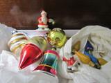 Vintage German and Japan Santa, Ornaments, Bulbs