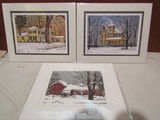 Signed Thelma Winter Prints, 2 signed on Front and Back, 10 x 8