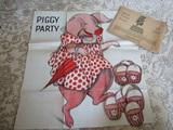 Vintage Vinyl Cloth by Mail Children Party Game, Complete Set with Original Envelope