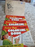 1943 Peter Pan Animated Coloring Books, Complete, Never Used with Mailing Envelope