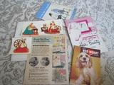 1940s Wall Decals with Instructions, Dog Book, Hair and Girl Book