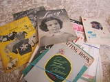 Large Lot of Vintage Sewing and Knitting Booklets and Advertising