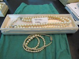 Simulated Pearls by Trifari in Box and Other Pearl Necklace