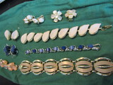 Matching Vintage Bracelets and Clip Earrings