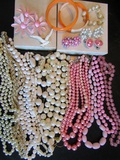 Large Lot of Vintage Costume Jewelry, Some Signed