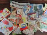 Vintage Valentines, Christmas, Halloween, Birthday Cards, 29 Total