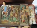 Vintage Paper Dolls, Goldie, Horse Flash, Pilly