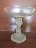 Antique/Vintage Compote Pedesttal Water Girl, Large Bowl