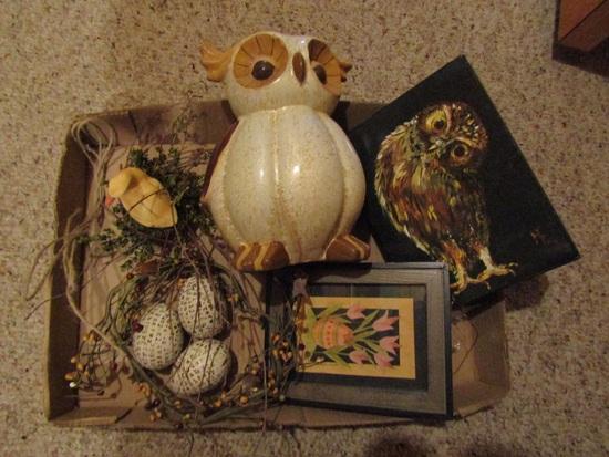 Vintage Fall/Owl Decor
