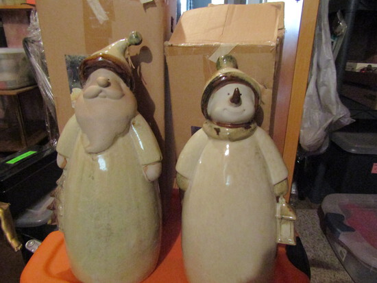 "Garden Pottery, Ceramic Santa, 19"" Tall"