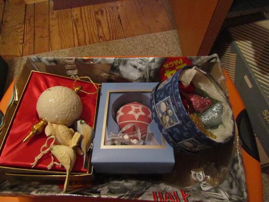 Vintage Lenox, Wedgewood and Bird Ornaments, Lenox 1982
