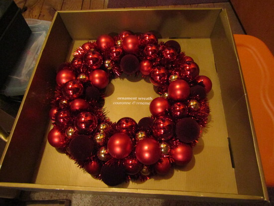 Vintage Red Christmas Wreath
