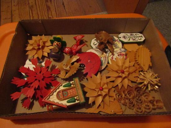 Vintage Folk Art Wood Ornaments, 1-Steinbach