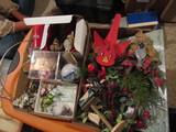 Vintage Folk Art Birds and Christmas Decor