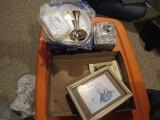Vintage Christmas Décor, 24% Lead Crystal, Silver Plate Dresser Set