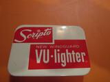 Scripto Vu-Lighter in Original Tin with Paperwork, Never Used