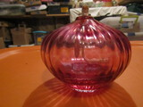 Signed Art Glass Oil Lamp