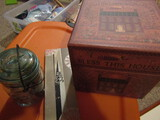 Antique/Vintage Sewing, Wiss Pinking Shears with Box, Atlas Jar with Wood Spools