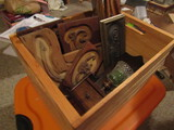 Wood Crate with Carved Wood Decor