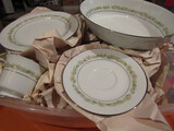 Noritake China, Daisy Pattern, 6908 Trilby Dishes, Plates, Cups