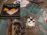2 Waring Blenders, Marble Cheese Slicer, Water Pitcher