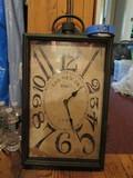 Large Modern Clock, Case is Metal