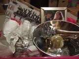 Lot of Trinkets, Pewter, Frame, Marble, Vase, Glasses