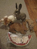 Rabbit Décor, Wall Hangings and Large Figurines