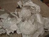 4 Antique/Vintage Pressed Glass Serving Bowls