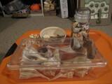 Seashells, Sand Art Bowl, Geo Rock, Planters Peanut Jar