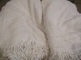 2 Chanille White Bedspreads