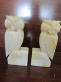 Vintage Marble Owl Bookends
