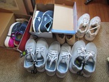 Lot of 7 Pairs of Tennis Shoes, NB, Sketchers, Athletic, Most New with Tags