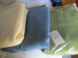 3 Antique/Vintage Wool Blanket, Beige, Blue, Green