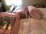 Lot of 4 Vintage Pink Blankets