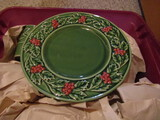 Vintage Christmas Dishes with Drinking Glasses from Portugal
