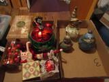 Vintage Christmas Décor with Pottery Snowman