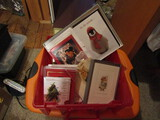 Large Lot Vintage Christmas Cards with Tub
