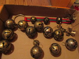 Vintage Lot of Metal Bells and Ornaments