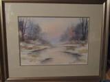 Signed Framed Art, 31' x 25