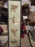 Vintage Large Print, Bird Nest, 4' x 13