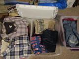 Lot of Vintage Clothes, Shirts, Pants, Sweatshirts, 3 Tubs