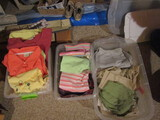 Lot of Vintage Clothes, Summer and Winter Shirts, Summer Pants, 3 Tubs