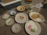 Antique/Vintage Decorative Glassware and Dishes, Some Hand Painted